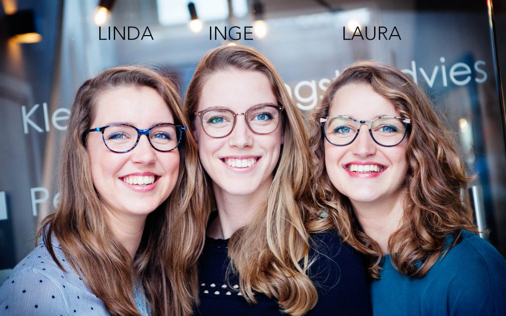 Laura, Linda en Inge Kingma